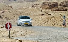 Free Desert Road In Timna Park, Israel Royalty Free Stock Photography - 24325947