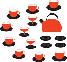 Free A Set Of Dishes Royalty Free Stock Images - 24326809