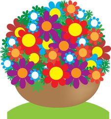 Free Basket With Flowers Stock Photo - 24326810