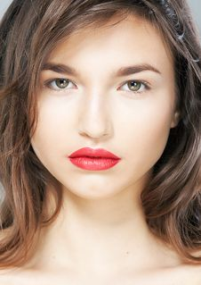 Free Freshess And Sensuality - Cute Girl Face Closeup Royalty Free Stock Photos - 24329868