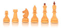 Free Chess. A Group Of White Wooden Chess Pieces Stock Images - 24335024
