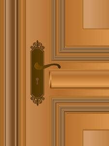 Free Wooden House Door Royalty Free Stock Photo - 24332295