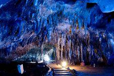 Free Stalactite Wall In Kao Bin Caves Royalty Free Stock Photo - 24332585