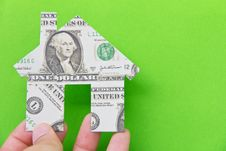 Free Banknote House Icon Stock Photography - 24333742