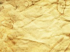 Free Crumpled Aged Paper Texture Stock Image - 24334571