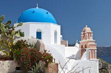 Free Traditional Church At Santorini, Greece Stock Photography - 24335892