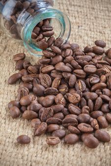 Free Coffee Beans Spilled Out Royalty Free Stock Image - 24338606