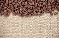 Free Coffee Grain On Hemp Bag Stock Photography - 24338622