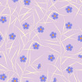 Free Floral Seamless Pattern Royalty Free Stock Photo - 24344375