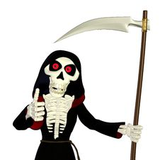 Free Thumbs Up Grim Reaper Stock Images - 24340784