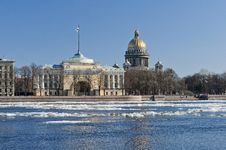 Free View Of St. Isaac S Cathedral And Neva Stock Photography - 24343512