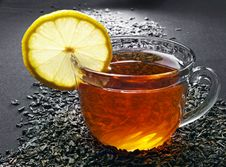 Free Cup Of Tea With Lemon Stock Photo - 24346890