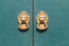 Free Door Knocker Lion Head Stock Photos - 24347343