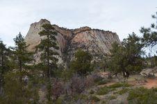 Free Flat Topped Zion Monolith Stock Photo - 24347560