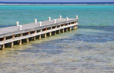 Dock In The Caribbean Sea Royalty Free Stock Photography