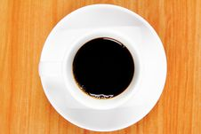 Free View Top Of Black Coffee Cup Stock Images - 24349304