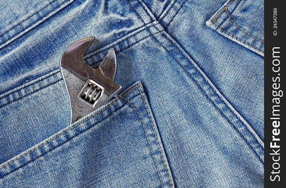 Labor jean pocket