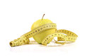 Free Green Apple With Measure Tape Royalty Free Stock Images - 24351719