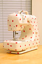 Free Retro Polka Dot Sewing Machine Stock Images - 24351844