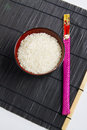 Free Bowl Of Rice With Chopsticks Royalty Free Stock Image - 24353026