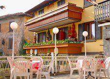 Free Outside Terrace Of Italian Restaurant Stock Images - 24350184