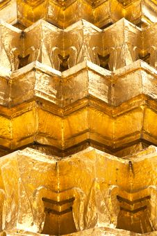 Free Golden Wall Royalty Free Stock Photo - 24350705