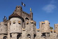 Free Castle Gravenshteyn In Gent Royalty Free Stock Photography - 24351807