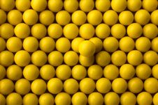 Free Yellow Round Pills Background Royalty Free Stock Image - 24353786