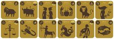 Free Modern Zodiac Signs Royalty Free Stock Images - 24357499