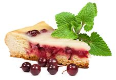 Free A Piece Of Berry Pie With Mint Leaves Stock Photos - 24358413