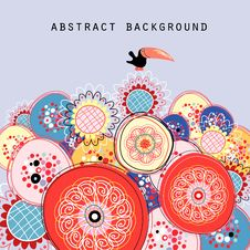 Abstract Background With A Bird Royalty Free Stock Photo