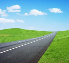 Free Grass Road Royalty Free Stock Images - 24363109