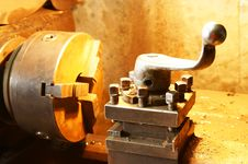 Free Turning Lathe In Action Royalty Free Stock Photography - 24364457