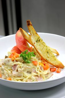 Spaghetti Ham Royalty Free Stock Photo