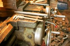 Free Old Lathe In Manufacture Stock Photos - 24364693