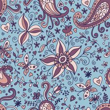 Free Floral Seamless Pattern Royalty Free Stock Image - 24369416