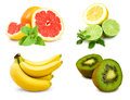 Free Collage Of Tropical Fruits Stock Image - 24371481
