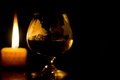 Free Glass Of Wine And Candle Stock Photos - 24376203