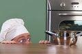 Free Chef Strange Looking At Pot Royalty Free Stock Photos - 24378238
