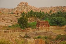 Free Vijayanagar, India. Ruins Royalty Free Stock Photography - 24370727