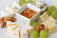 Free Cheese With Grapes Royalty Free Stock Images - 24373369