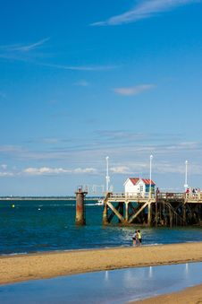 Beach In Arcachon &x28;france&x29; Stock Photography