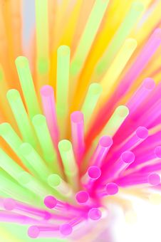 Free Colored Straws Royalty Free Stock Images - 24374369