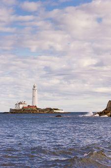 Lighthouse On St Marys Island Royalty Free Stock Photos