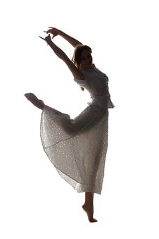 Silhouette Of Professional Dancer Royalty Free Stock Photo