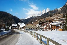 Village In The Mountains. Campitello Royalty Free Stock Photography