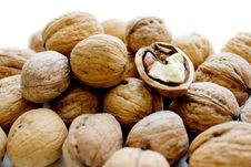 Free Walnuts In A Light Background Stock Photos - 24378173