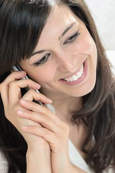 Free Talking On Cellphone With Love Royalty Free Stock Photography - 24379077