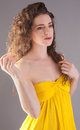 Free Beautiful Woman In Yellow Dress Stock Photo - 24385050