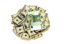 Free Money Dollars & Euro Royalty Free Stock Photo - 24380365